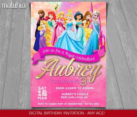 princess invitations disney princess invitation disney princesses invite disney
