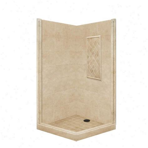 american bath factory shower american bath factory p21 2736p sn 48l x 42w premium shower package with satin nickel