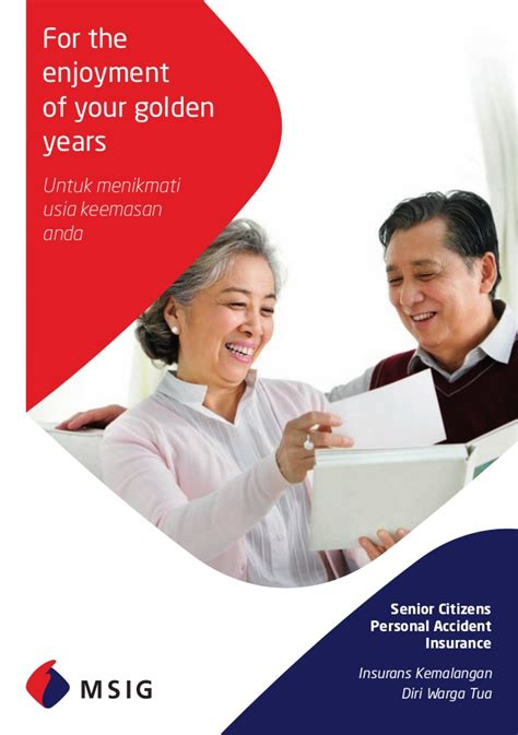 Mba Insurance Company Sdn Bhd by Msig Malaysia Senior Citizen Insurance Arranged By