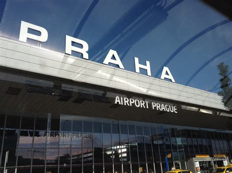 prague airport circles all the way still on our honeymoon