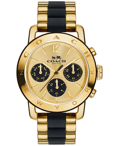 coach s chronograph legacy sport gold tone stainless