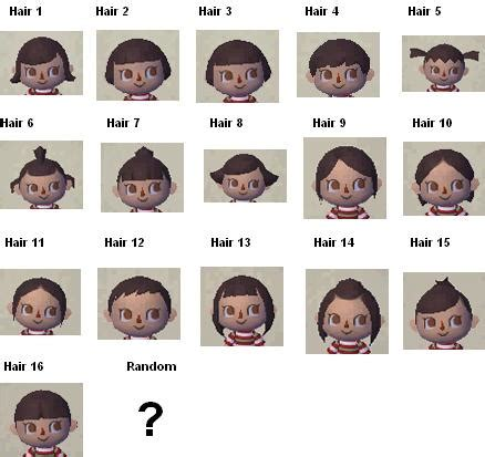 all acnl hairstyles with colours pics for gt animal crossing new leaf hair salon guide