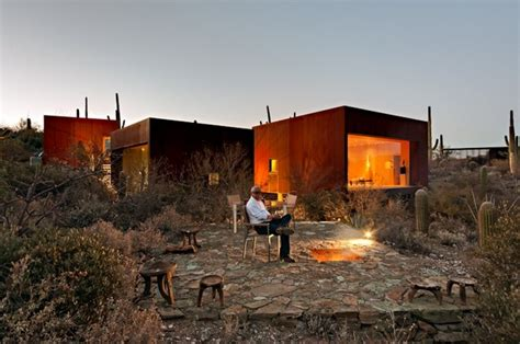 desert nomad house nestled between cactuses the desert nomad house arizona