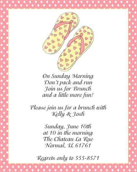 after wedding brunch invitations sandals after wedding brunch invitations