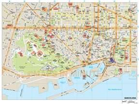 map of city barcelona city map