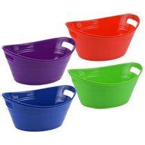colored storage bins bulk brightly colored oval plastic storage bins 2 ct
