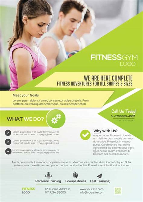 Freepsdflyer Download Free Fitness Gym Flyer Psd Templates For Photoshop Free Fitness Newsletter Templates