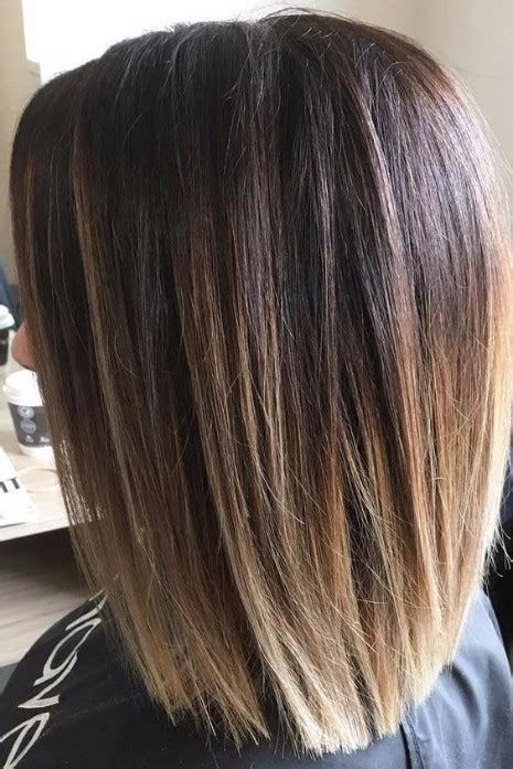 one lenght long layers blunt crown 37 haircuts for medium length hair