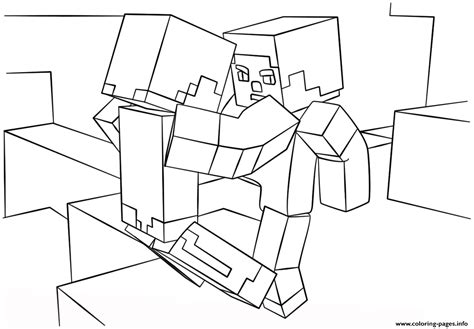 minecraft wars coloring pages minecraft fight coloring pages printable