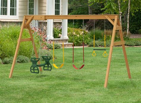 wooden swing set plans 25 best ideas about swing set plans on pinterest