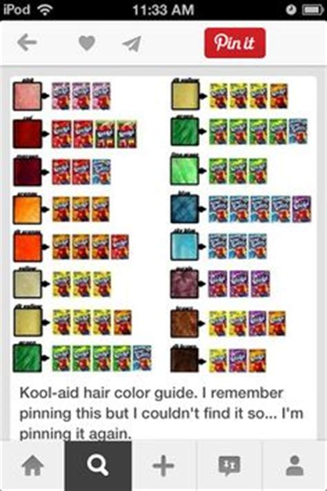 1000 images about dip dye hair on kool aid