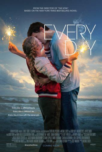 one day book film every day movie poster premiere 2018 book adaptation
