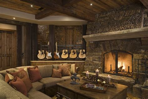 Rustic Family Room | creating a rustic living room decor