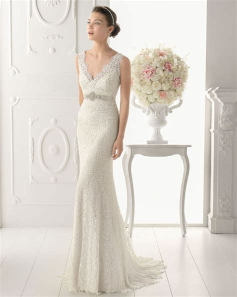 25 timeless wedding gowns from aire barcelona 2014 onewed