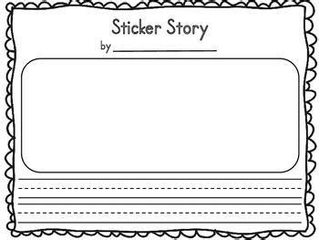 Sticker Story Kindergarten by Sticker Story Template Freebie Kindergarten Writing