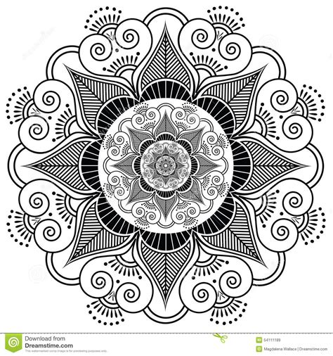 indian henna tattoo vector indian henna flower stock vector image 54111189