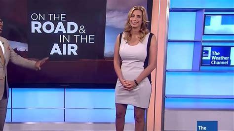 Stephanie Abrams Is White Hot Weatherbabes | stephanie abrams in tight white black dress 07 25 13