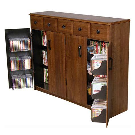 dvd cabinet with drawers venture horizon media cabinet with upper drawers walnut