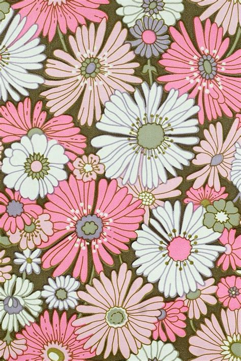 flower design maker pink floral wallpaper original vintage flower wallpaper