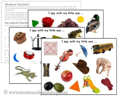 printable montessori sound book i spy pages free printable montessori learning materials