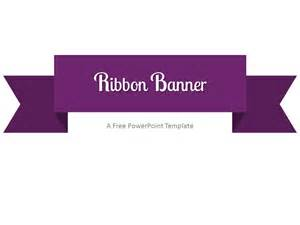 purple ribbon banner powerpoint template
