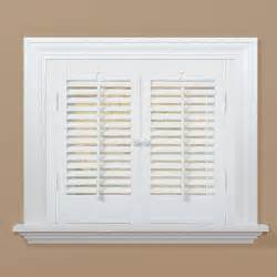 Interior Wood Shutters Home Depot Homebasics Traditional Faux Wood White Interior Shutter Price Varies By Size Qsta2332 The