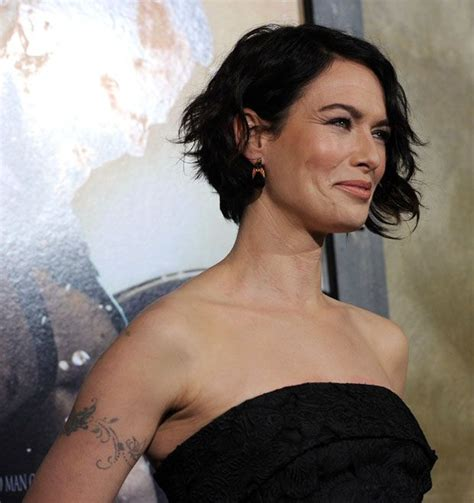 empire short hairstyles lena headey 300 rise of an empire la premiere red