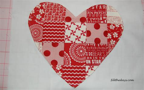 Patchwork Hearts - a simple patchwork fillthedaysdotcom