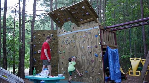 climbing structures backyard backyard climbing wall youtube