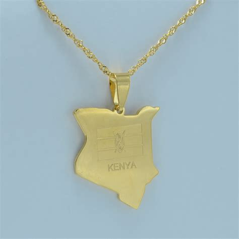 africa map necklace aliexpress buy map of kenya pendant necklaces