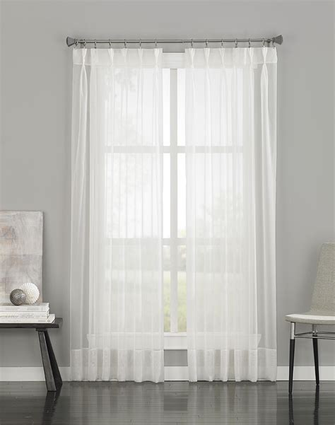 pinch pleat sheer drapes 95 quot 19 99 versatile pinch pleat construction with hidden
