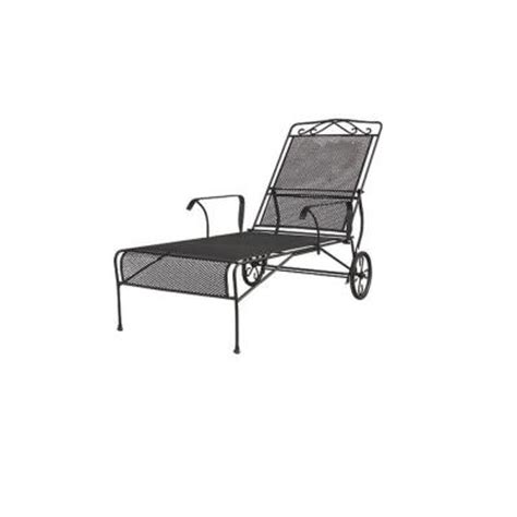 Black Wrought Iron Patio Chaise Lounge wrought iron black patio chaise lounge discontinued w3929