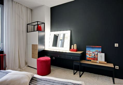 Pops Furniture by Chic Pops Of Bring Energy Into A Black And White Apartment