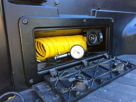 air compressor in bed storage tacoma trd bed storage air compressor and storage