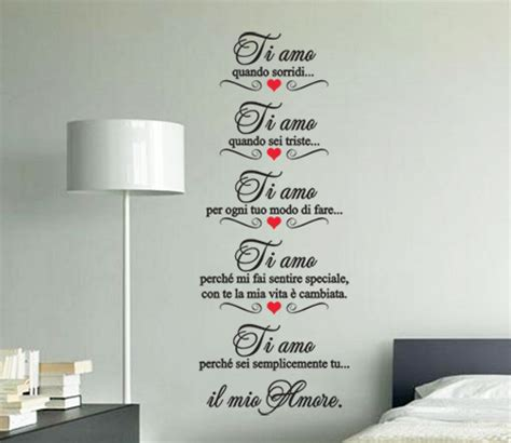 Wall Design Sticker adesivi murali ti amo perche