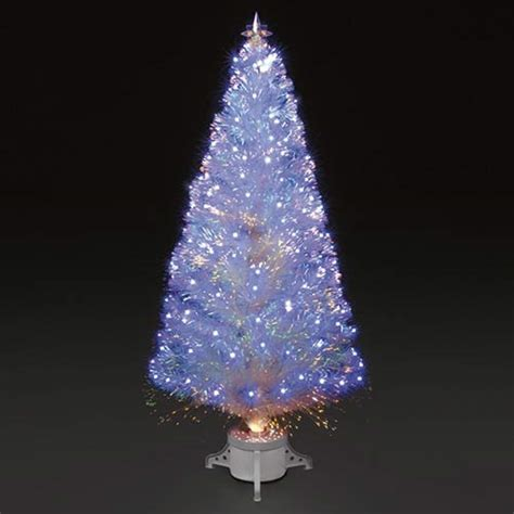 white fibre optic christmas tree 4ft 120cm polar white fibre optic led tree ebay