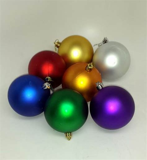 bulk assorted color shatter resistant christmas ornaments