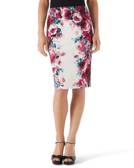 floral print pencil skirt white house black market