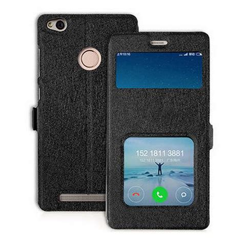 Flip Cover Leather Standing Back Cover Casing Xiaomi Redmi Note 4 leather for xiaomi redmi 3 pro flip cover ultra thin