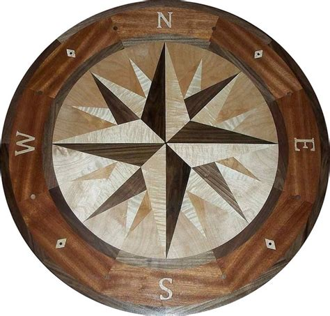 hardwood floor medallions hardwood compass floor medallion 48 quot mana style