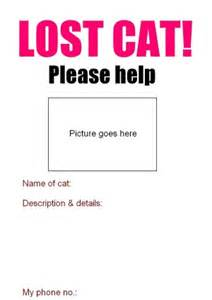 Lost Poster Template by Lost Cat Poster Poc