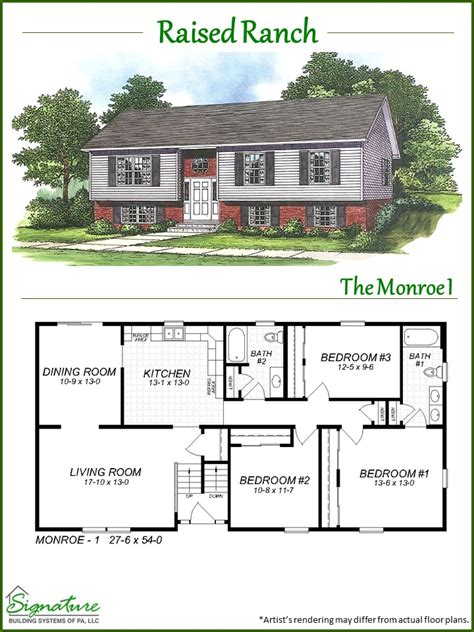 raised ranch home plans raised ranch floor plans raised ranch signature building