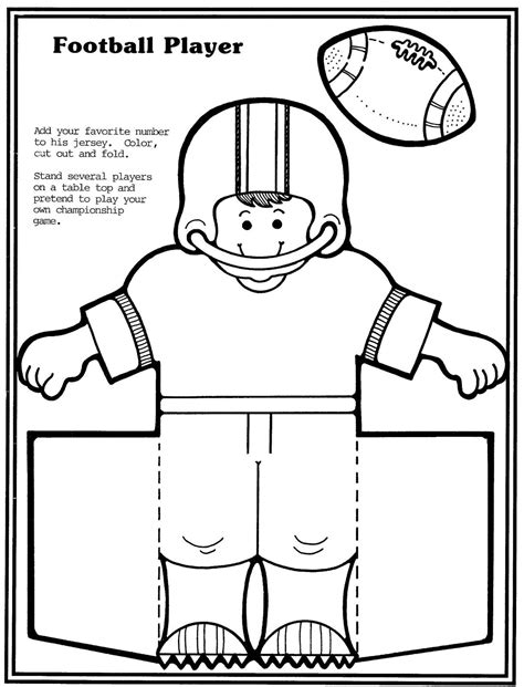 Football Player Cards Templates by 1990 Bowl Sunday Paper Toys Puzzles