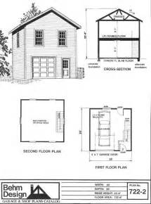 2 Story Floor Plans With Garage Two Story 1 Car Garage Plan 722 2 By Behm Design Has Small Footprint Second Story