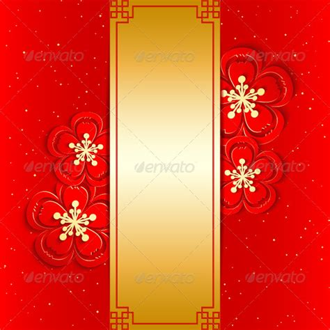 new year flower template new year greeting card with cherry blossom by