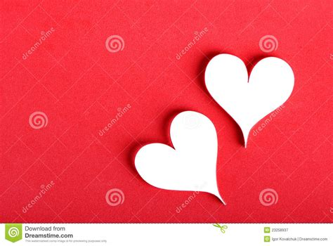 paper valentines s paper hearts royalty free stock photography