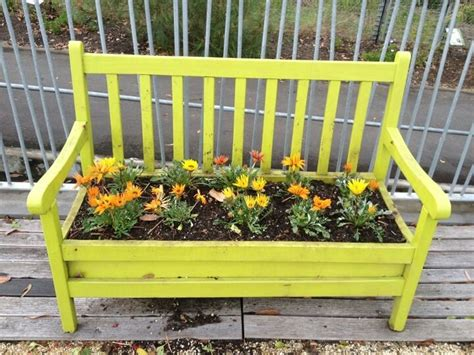 flower bench flower bench garden birds pinterest
