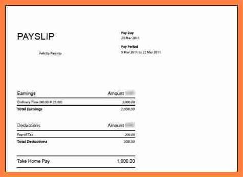 printable salary slip word documents templates