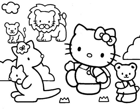 hello kitty coloring pages only coloring pages hello kitty and friends