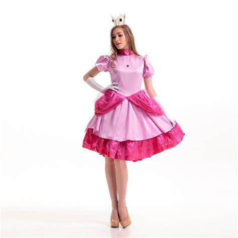 Dress Princess Custome 07 mario bros princess costume pink fancy dress